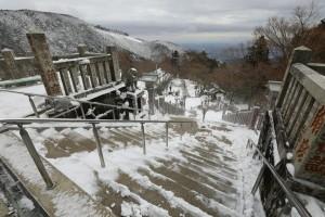 今朝の大山阿夫利神社